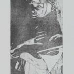 Der Eid, 1999, 23,5x13cm, Radierung/Bütten, R3            ©Raimund Egbert-Giesen