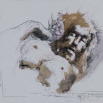 Jesus2, 2013, 37,5x30cm, Tusche/Papier, A7                   ©Raimund Egbert-Giesen