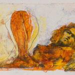 Lustvoll, 2017, 64x39cm, Öl/Graphit/Papier, A31                   ©Raimund Egbert-Giesen