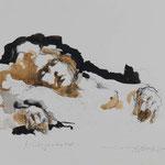 Nachtgedanken, 2009, 49x34cm, Tusche/Sepie/Bütten, A1                   ©Raimund Egbert-Giesen
