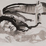 Fremdgesteuert, 2016, 53,5x39cm, Fineliner/Tusche/Papier, A19                  ©Raimund Egbert-Giesen