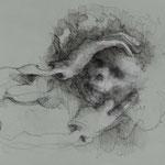 Todesscham, 2018, 34,5x24,5cm,  Fineliner/Papier, A26                   ©Raimund Egbert-Giesen
