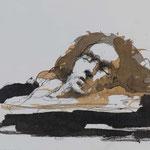Schlaf, 2016, 39,5x27cm, Tusche/Papier, A15                   ©Raimund Egbert-Giesen