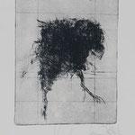 Vogel, 2003, 25x19,5cm, Radierung/Bütten, R20       ©Raimund Egbert-Giesen