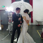 1 Hochzeits- & Festmesse Alte Drahtzieherei in Wipperfürth Januar 2011, Brautkleid und Herrenanzug Brautkultur + Anzugkultur, Brautschirm Anja H.