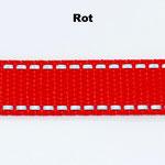 Rot ist in den folgenden Breiten erhältlich: 20mm, 25mm.