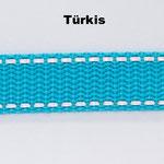 Türkis ist in den folgenden Breiten erhältlich: 20mm, 25mm.