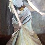 Женщина в длинном платье (под заказ)