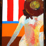 Женщина в шляпе (под заказ)