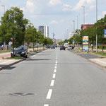 Start- und Zielgerade in der Konsul-Smidt-Straße