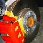 Bremssattel auf Kundenwunsch lackiert
