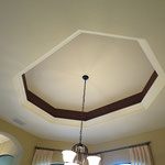 Coffered Ceiling Game Room