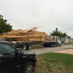 Dachstuhl auf LKW