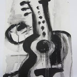 GUITAR BLACK - ACRYLIC PAPER 2010 ANNE M MCCLOY
