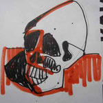 SKULL - PEN PENCIL PAPER ANNE M MCCLOY 2011