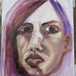 PAINTING PURPLE - OIL PAPER 2009 ANNE M MCCLOY