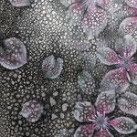 「夜桜に雨」:変形サイズ   /2013年作