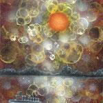 「夕暮れの赤岩渡船」:SM   2012年作