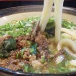肉うどん 硬さ普通麺