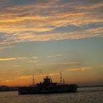 関門海峡の夕焼け