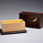 Rewarewa拭漆嵌装香盒「月華」
