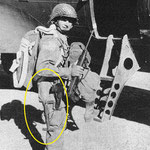 Col. Reuben H, Tucker of the 504th just before the Sicily jump.