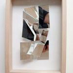 """""""o.T."""", 2010, Scherbenbild, in Holzkasten, hinter Glas 32x23x5,4cm"""