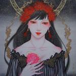 「胸に薔薇を秘め」2013年・F8