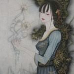 「時の記憶」Year,2011 M10(530×330㎜) 絹本着彩