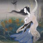 「鬼百合」-Tiger lily-Year,2009 F6 絹本着彩・箔