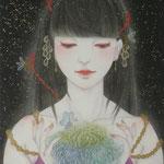 「声」Year,2011 /SM(227×158㎜)  絹本着彩