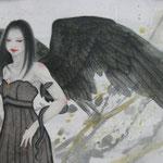 「黒天使」-Black Engel Year,2010 / 絹本着彩