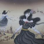 「夜が来る」Year,2011 400×290㎜ 絹本着彩