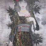 「天に昇りて華と成る」-Ama ni noborite hana to naru-Year,2008  P30 絹本着彩