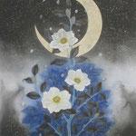「雪椿」Year,2011 / F6(350×270㎜) 絹本着彩