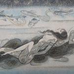 「海女の唄」2013年・P6・紙本着彩