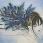 「羽化」-Eclosion- Year,2012 270×350㎜ 絹本着彩