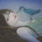 「死して生きる華」Year,2012  175×135㎜ 絹本着彩