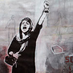 female iranian protest 2013