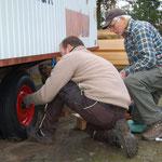 Montage der neuen Reifen