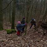 Wir suchen Spuren im Wald - Foto: Stefan Wagner