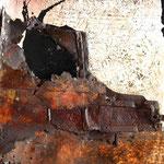 50X150 cm huile sur toile et tôle, résine. porte 2