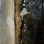 """96X130 cm huile sur toile et tôle, résine """"sans titre"""""""