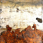 50X150 cm huile sur toile et tôle, résine. porte 1