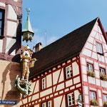 Fachwerkhaus  am Tiergärtnertor in Nürnberg Sehenswürdigkeiten Deutschland Nürnberg