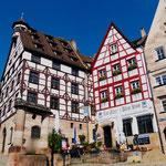 Fachwerkhäuser am Tiergärtnertor in Nürnberg Sehenswürdigkeiten Deutschland Nürnberg