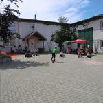 Spielstraße mit Schminkecke