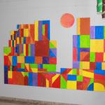 """Schuljahr 2012/13 """"Burg und Sonne"""" nach Paul Klee"""