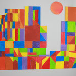 Wandgestaltung nach einem Bild von Paul Klee