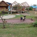 Partie de pétanque au Laos